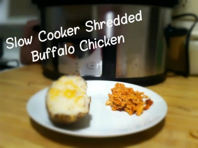 Slow Cooker Shredded Buffalo Chicken via Levels