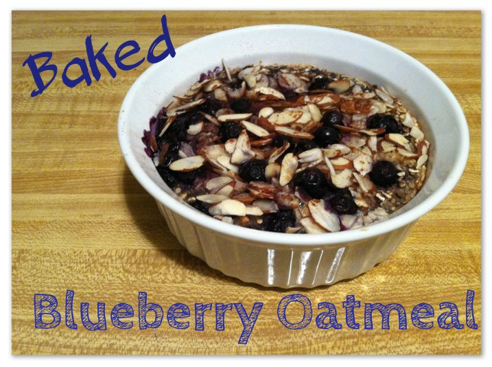 Healthy Baked Blueberry Oatmeal