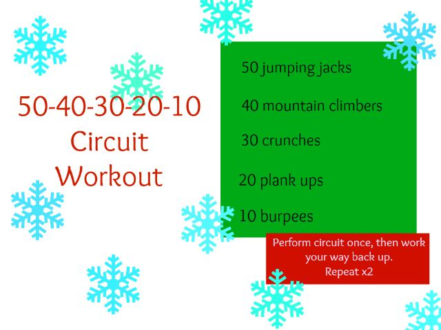 50-40-30-20-10 Circuit workout