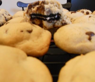 Stuffed Oreo Chocolate Chip Cookies