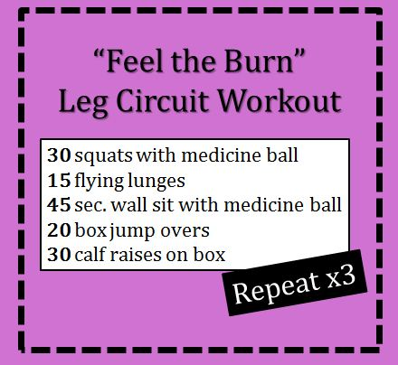 Feel the Burn Leg Circuit