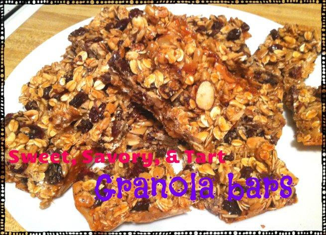 Sweet, Savory, & Tart Granola Bars