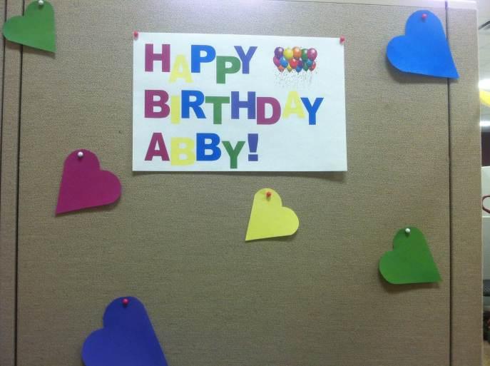 Birthday cubicle