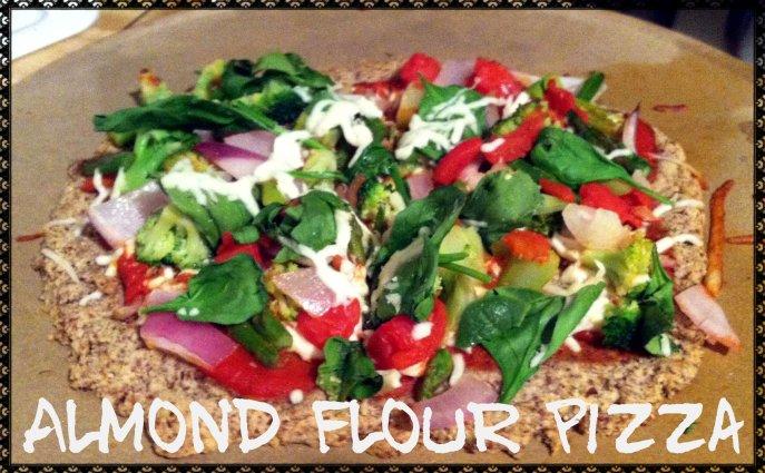 Gluten-free almond flour pizza