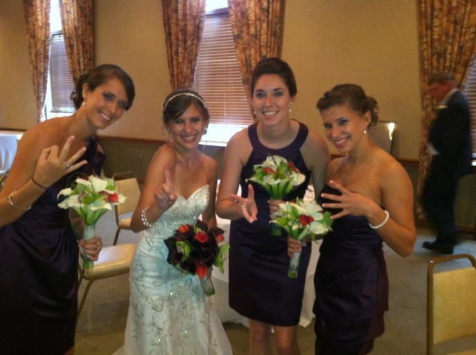 Ali, me, Kelsey, and Kate on my wedding day!