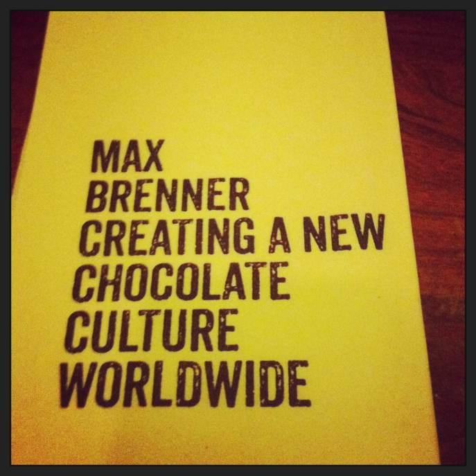 Max Brenner napkin