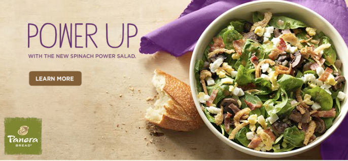Panera's Spinach Power Salad