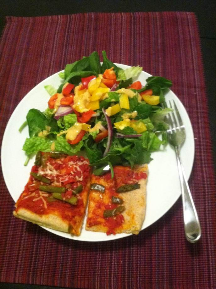 Salad + Pizza