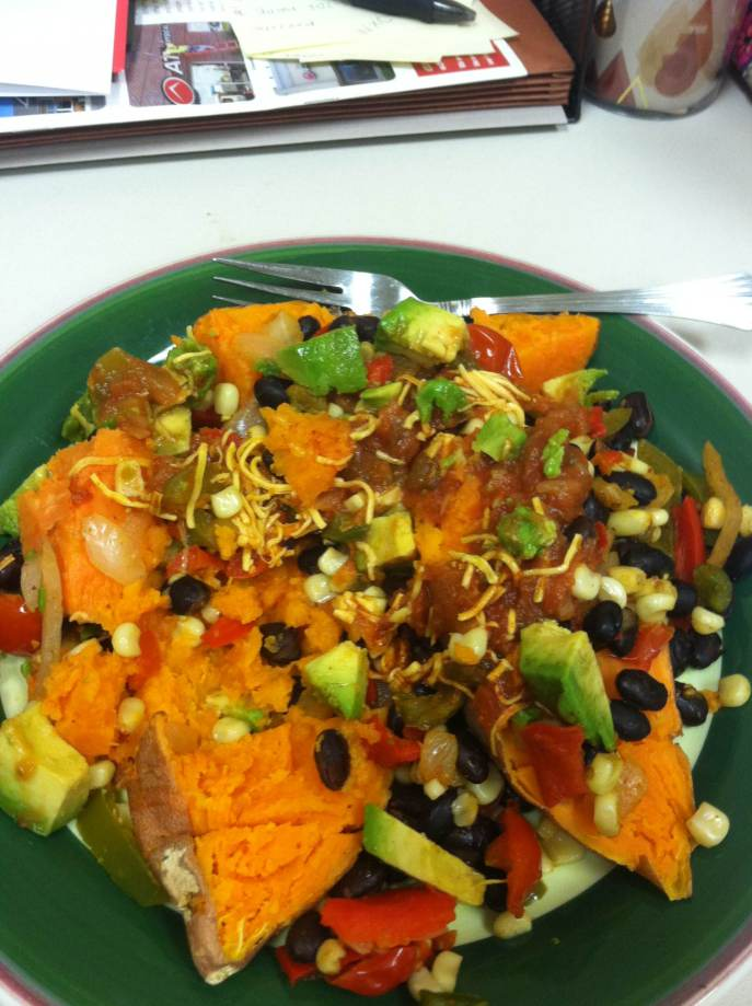 Spicy sweet potato + veggies