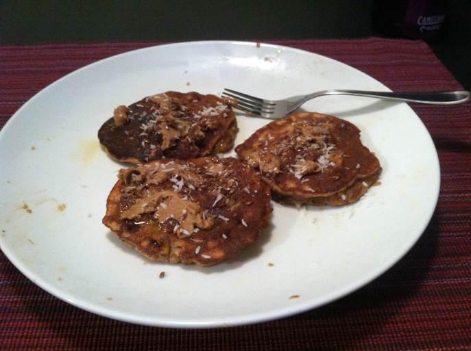 Flax almond flour pancakes