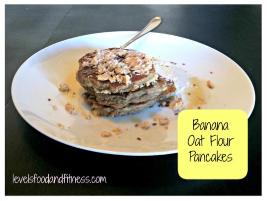 Banana Oat Flour Pancakes
