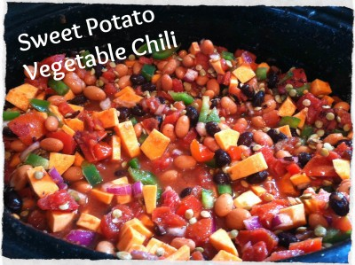 Sweet potato vegetable chili
