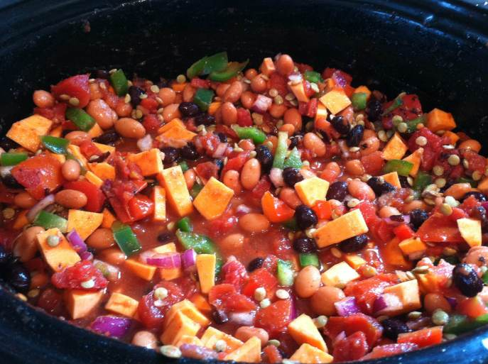 Sweet potato vegetarian chili