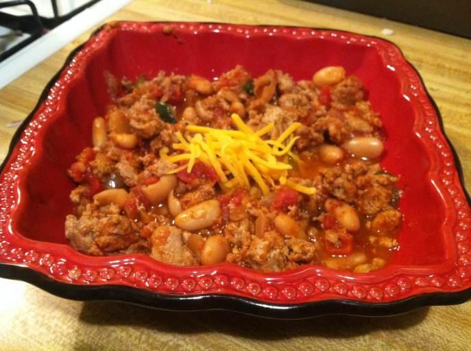 Turkey veggie chili