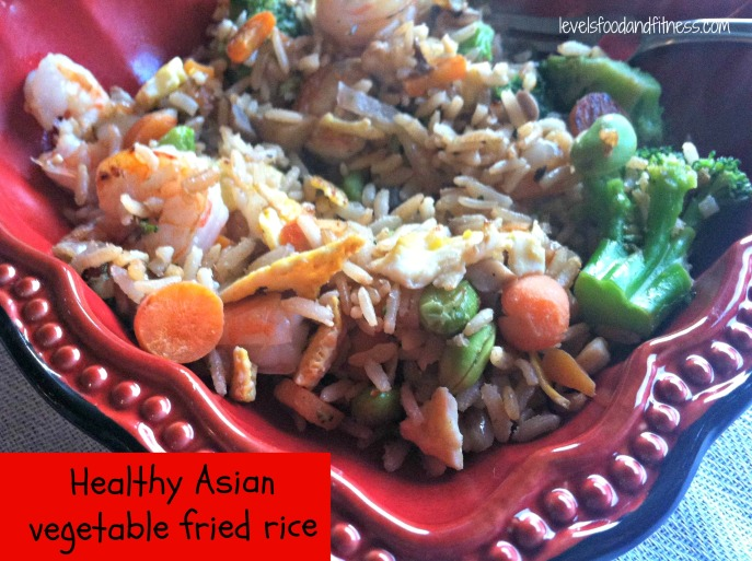Healthy Asian vegetable fried rice