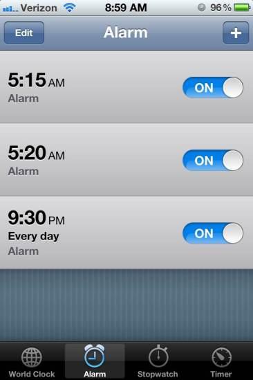 Levels alarm
