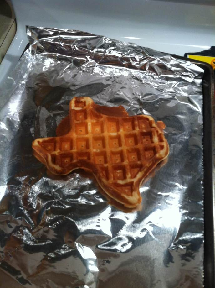 Texas Shaped Waffle