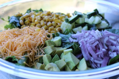 Avocado Cobb Salad with Chipotle Homemade Dressing