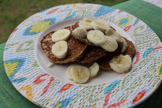 Banana Cottage Cheese Pancakes