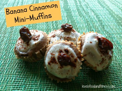 Healthy Banana Cinnamon Mini Muffins
