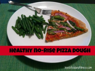 Healthy no-rise pizza dough