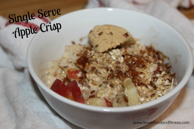 Single serve apple crisp