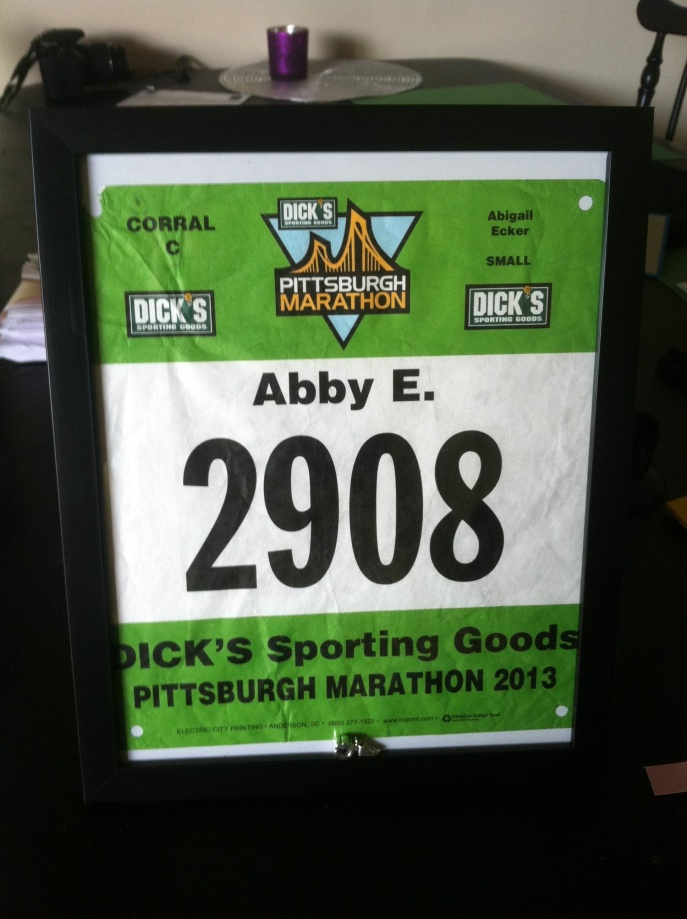 Marathon number Andy