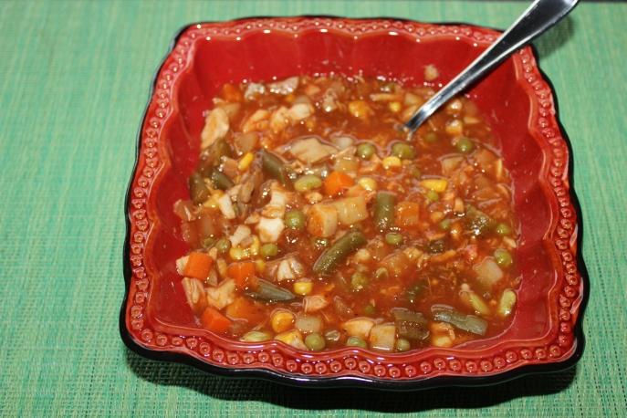 Vegetable crab soup