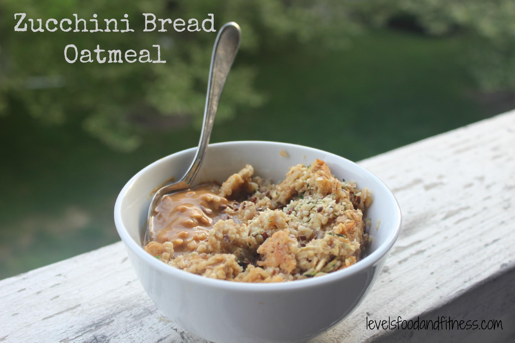 Baked Zucchini Bread Oatmeal