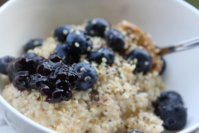 Blueberry pie oats